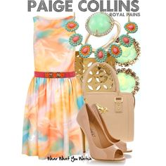 Inspired by Brooke D'Orsay as Paige Collins on Royal Pains.
