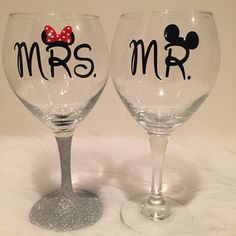 **Current production time is 5 to 7 business days**  Celebrate your favorite couple with a customizable glitter dipped wine glass. A perfect way