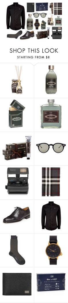 """48. Surprise dad with gifts!"" by sabon ❤ liked on Polyvore featuring Aroma, Thom Browne, Impossible, Burberry, Berluti, Vivienne Westwood, Barneys New York, MIANSAI, Dolce&Gabbana and men's fashion"