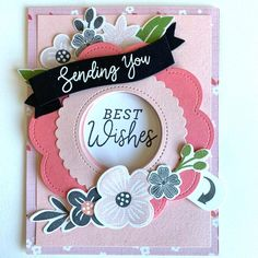 Interactive Cards, Message Card, Lawn Fawn, Flower Crafts, Diy Cards, Card Templates, Homemade Cards, Stampin Up Cards, Making Ideas