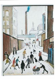 Street Scene With Factory Pendlebury, 1947