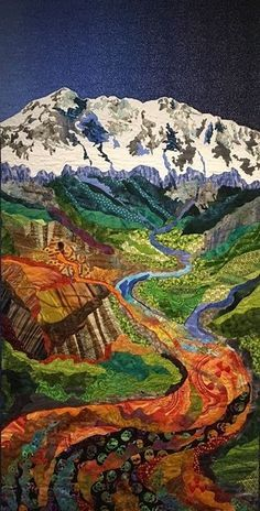 """Water is Life is at New England Quilt Museum in Lowell, Massachusetts, through April 29, 2017 Luana Rubin – """"Rocky Mountain Poison"""" Water is Life is comprised of forty-on…"""
