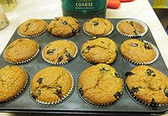 Method Preheat oven to 190°C/375 F/Gas 5. Line a 12 hole muffin tin with large muffin paper cases. Mix flour, bran, baking powder, bread soda together in a large mixing bowl. Pour the yogurt, milk, eggs, sugar, oil, vanilla and…