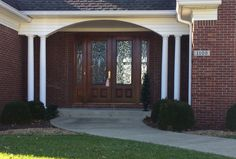 Love the double doors on this beautiful home