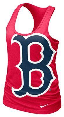 Boston Red Sox MLB Nike Women's Red Cotton Racerback Tank