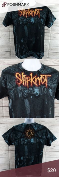 "Slipknot Tour T-Shirt Metal Grunge Concert Shirt Slipknot Double Sided Shirt. Looks great and lightly worn. Detailed Measurements: Sleeves: 7.5"" • Underarms: • 19"" inches • Length: 27.5 • Rare not easy to find style. Ships from a clean and smoke free environment in 1 business day or less. Please purchase with confidence. Top Rated Seller! ✨ Hanes Shirts Tees - Short Sleeve"
