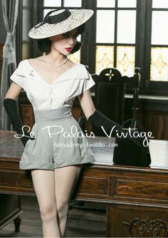 Edição Le Palais Vindima limitado de 50's clássico elegante usando uma variedade de lei de todos os coincidir com camisa branca/botão em Blusas & Camisas de Das mulheres Roupas & Acessórios no AliExpress.com | Alibaba Group