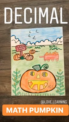 This Pumpkin Math Activity is perfect for fall! Students have to solve the decimal math problems to complete the pumpkin patch scene. This activity is both challenging and engaging! It is perfect as a pumpkin math center. Teaching Decimals, Teaching Math, Teaching Numbers, Teaching Ideas, Dividing Fractions, Multiplying Fractions, Equivalent Fractions, I Love Math, Fun Math