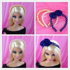 Sewing Barbie Clothes, Barbie Dolls Diy, Barbie Clothes Patterns, Barbie Hair, Doll Hair, Barbie And Ken, Diy Doll, Barbie Accessories, Diy Hair Accessories