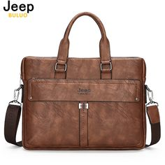 Jeep Brand Elegance Business Men Briefcase Bag Cow Split Leather 14 inch Laptop Men Bag Casual Man Shoulder Bags Maleta 914 //Price: $78.52 & FREE Shipping // #hashtag1