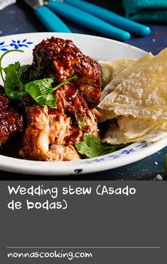Wedding stew (Asado de bodas) | Similar to a Mexican mole, dark chocolate is added to this simple stew towards the end of the cooking process to add a rich flavour, dark colour and silky sheen to the sauce. It is popular in parts of north and central Mexico, and particularly in the city of Zacatecas, where it is seen as a symbol of celebration and achievement, and commonly served at wedding banquets, often with Mexican red rice.