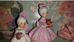 Vintage Napcoware Shopper Girl, Birthday Girl Figurine, C8614, Girl Figurines, Napco by JunkYardBlonde on Etsy