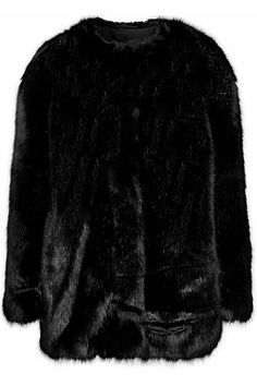 The Fur Side: Shop Coats from High to Low - Karl Lagerfeld faux fur jacket