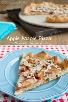Apple Dessert Pizza with Cream Cheese Frosting