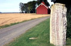 "The new church in Sal in Västergötland, Sweden was built after 1881, in the rest of the old medieval church they found a rune stone. The runes reads: ""Torgård put this stone after Toke, his kinsman""."