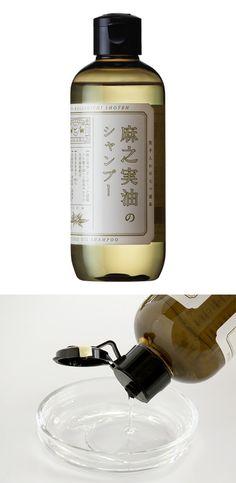 【麻之実油のシャンプー(中川政七商店)】/麻之実油(アサ種子油:保湿成分)が頭皮、毛髪にうるおいを与えます。 きしみのない、さっぱりとした洗いあがりのシャンプーです。 #package