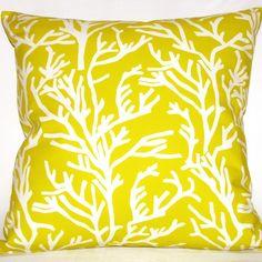 Yellow, pillow
