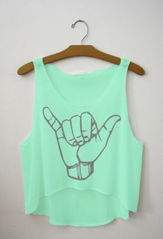 hang loose crop top for summer  im diggin it