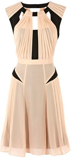 Like the pleating just on the hips.  Warehouse 2013 ●   Pleated Dress