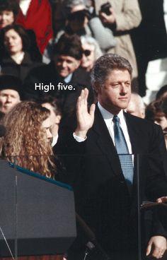 Historic Inaugural High-Fives #4, Bill Clinton