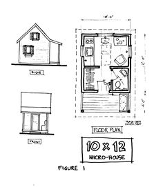 8x12 tiny house with a lower level sleeping option, kitchen ...