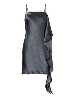 9461c561b9 Womens Heritage Side Ruffle Slip Dress New Years Eve Outfits