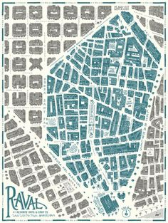 Design and illustration of the map of the Raval quarter in Barcelona for the project Walk With Me . Barcelona Architecture, Architecture Drawings, Urban Mapping, Geography Map, Urban Analysis, Map Globe, Map Design, Graphic Design, City Maps