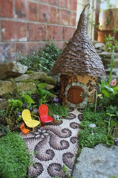 """DIY pebble. Walkway!  A little FAIRY told me, once upon a time, that """"Fairies LOVE beautiful gardens.""""  *IF YOU ARE A very Crafty person, make some waterfalls, ponds, stone bbq pits etc...."""
