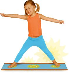 Yoga for children. Because you should teach your children to stay FIT and active as young as you can plus it helps in reducing stress for small children (yes even little ones carry stress)