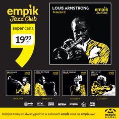 Przenieście się do najmodniejszego jazz clubu dzięki kolekcji Empik Jazz Club. Znajdziecie w niej stare i nowe, niezapomniane oraz te nigdy nieopublikowane nagrania największych gwiazd muzyki Jazz. Pierwsza z płyt z największymi przebojami Louisa Armstronga tylko za 19,99!