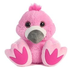 "stuffed animal plush 10"" BABY FLAMINGO TADDLE TOES aurora big feet #Aurora"