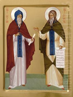 You can order a painted icon of Ss Sergius and Herman the Wonderworkers of Valaam from our Catalog of St Elisabeth Convent. This icon is painted according to your preferences Orthodox Prayers, Prayer Corner, Paint Icon, Orthodox Icons, Full Figured, Saints, Religion, July 11, Sagrada Familia