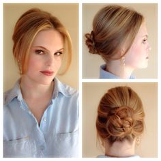 Romantic updo with volume & braided bun on fine, thin hair.  Love it!!  Hair by Heather Chapman