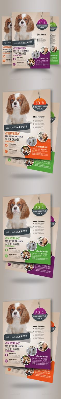 Pet Shop Business Flyer Template PSD. Download here: http://graphicriver.net/item/pet-shop-business-flyer-template/16145161?ref=ksioks