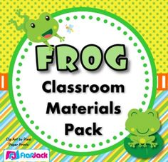 If you are wanting to decorate your classroom with froggies, this frog-themed pack will be a bright and colorful addition to your classroom. Includes: alphabet, numbers 0-20, word wall, jobs, calendar set, birthday display, name tags for upper and lower elem., bulletin board display, teacher management materials, and LOTS more!! ($)
