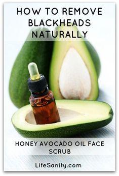 Blackhead removing facial scrub made with avocado oil, brown sugar, and organic raw honey.