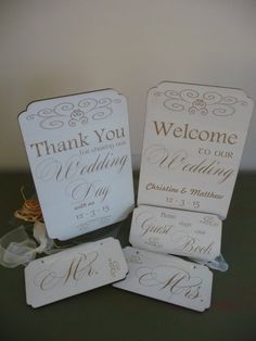 Custom Wedding Package, Wedding Sign Package, Welcome to our Wedding Sign, Thank You Sign, Mr and Mrs Signs, Guest Book Sign, 2+2M+1L