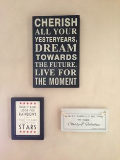 My hall quote wall