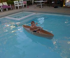 How to Make a Cardboard Canoe for your Kids in the Pool---- club? build in teams and then have a race in the pool at the end of the week