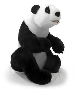 Standing at over 2 feet tall, this large Panda plush toy from Warehouse 36 is made for cuddling!