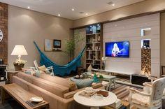 Resultado de imagem para salas de estar com redes