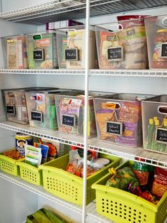 Turn your cluttered kitchen pantry into a storage dream with these great pantry organizers. | Easy Ideas for Organizing and Cleaning Your Home | HGTV