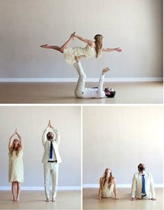 acro-yoga wedding photos, I can dig that