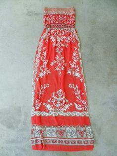 Batik Coral Island Maxi Dress [5566] - $24.94 : Vintage Inspired Clothing & Affordable Dresses, deloom   Modern. Vintage. Crafted.