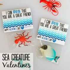 SEA a great friend 15 Valentines that kids will love! Cutest ideas at the36thavenue.com #Valentine #gifts