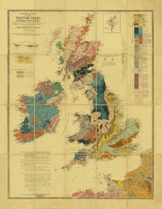 Geological Map of the British Isles c.1860
