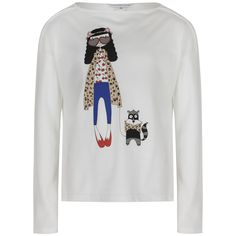 Little Marc Jacobs Girls White Long Sleeve T-Shirt