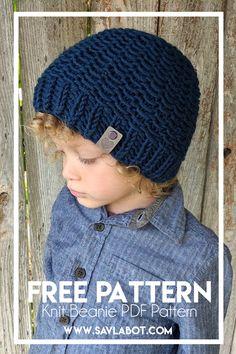 Free Knit Beanie Pattern – Savlabot Beanie Knitting Patterns Free, Knit Beanie Pattern, Knit Patterns, Free Knitting, Knitted Hats, Crochet Hats, Yarn Tail, Beanies, Knits