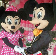 Mickey e Minie personagens vivos para festa infantil  11947564076 whatsapp