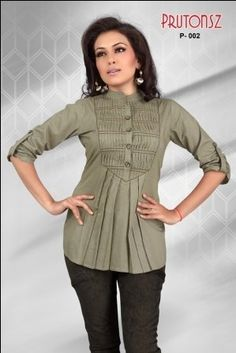 Designer Pintuck Work Ladies Blouse Tunic Top Kurta Kurti Haas Fashion. $55.00. Cotton. Thigh length 3/4th Sleeve top. Designer Ladies Blouses /Tunics/ Tops. Pintuck Work. Cotton. Inner Lining to be avoid embroiderey itchiness.If you don't want the inner lining,Kindly inform us while you place the order.